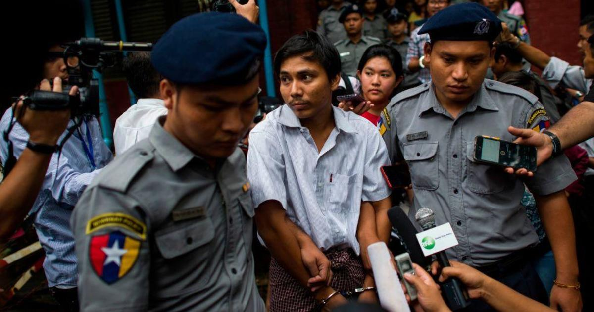 Image result for Reuters reporters jailed for 7 years in landmark Myanmar secrets case
