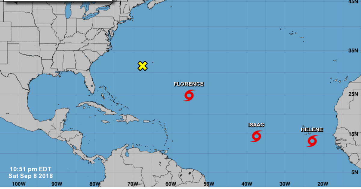 Tropical Storm Florence, Tropical Storm Isaac, Tropical Storm Helene ...