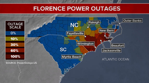 Florence Once A Hurricane Now A Tropical Storm Florence Moves
