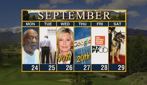 Calendar: Week of September 24