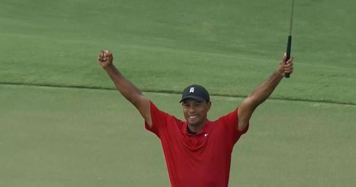 Tiger Woods wins first PGA tournament in 5 years