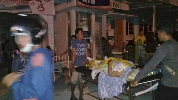 Image result for A 7.5 magnitude earthquake hit the Indonesian island of Sulawesi on Friday,