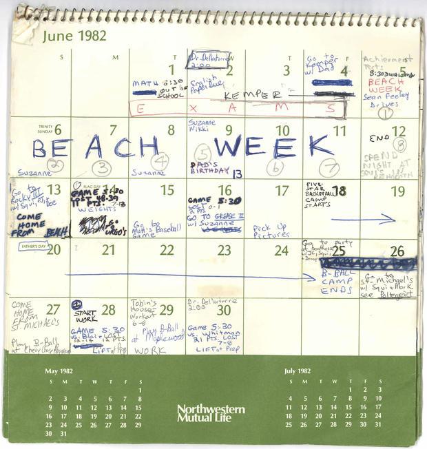 Brett Kavanaugh calendar -- June 1982