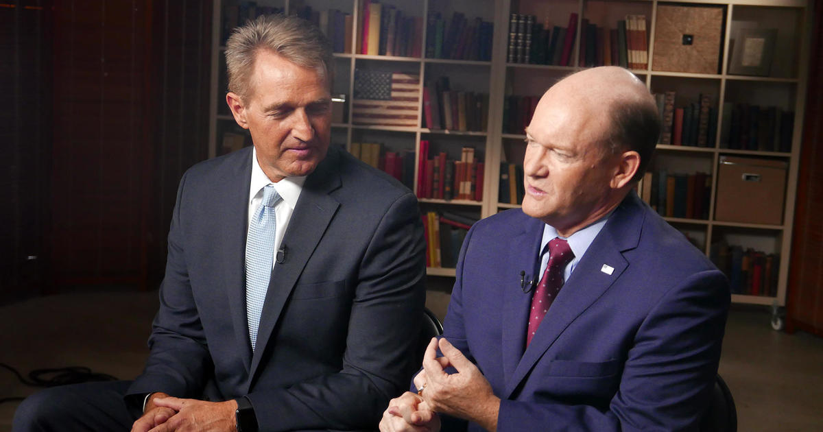 Senators Jeff Flake and Chris Coons explain why they decided to delay Brett Kava...