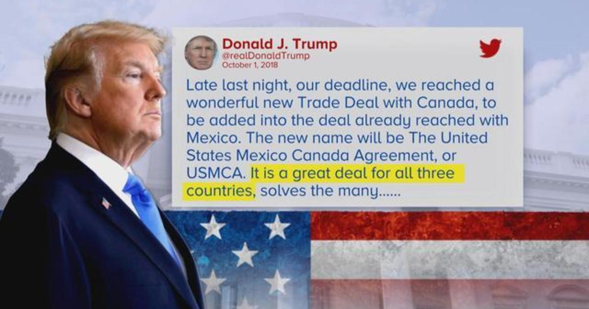 Nafta Canada Us Reach Trade Deal 3 Way Pact With Mexico Will