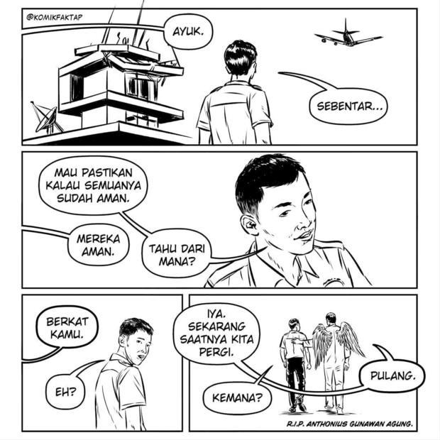 Social media art in tribute to Anthonius Gunawan Agung