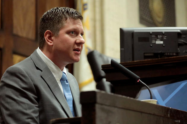 Chicago police Officer Van Dyke takes the stand in his murder trial in Chicago