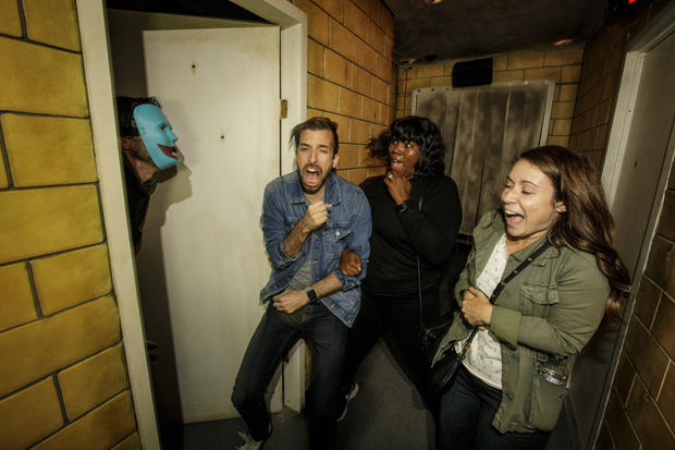 Terrified reactions at haunted houses
