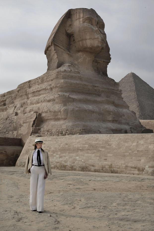 APTOPIX Egypt Melania Trump