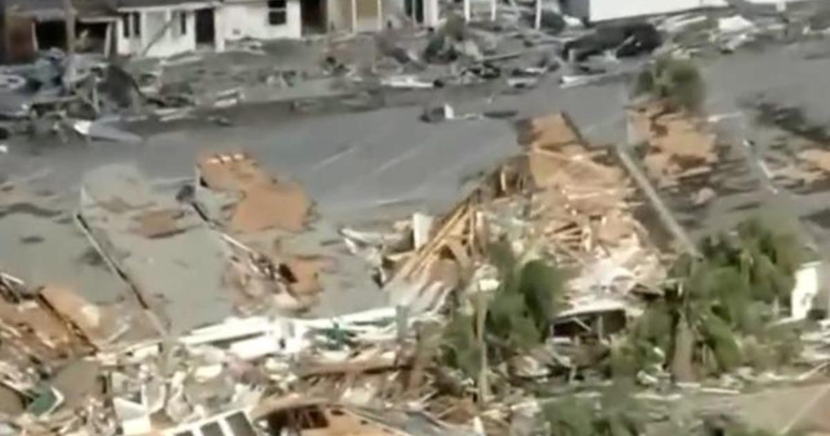 Aerial video shows devastation in Mexico Beach, Florida