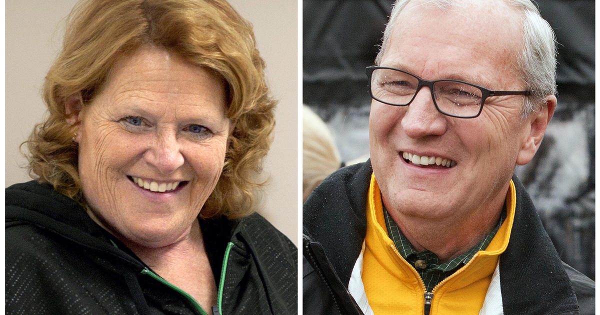 Heidi Heitkamp attends debate against Kevin Cramer after apologizing for mislead...