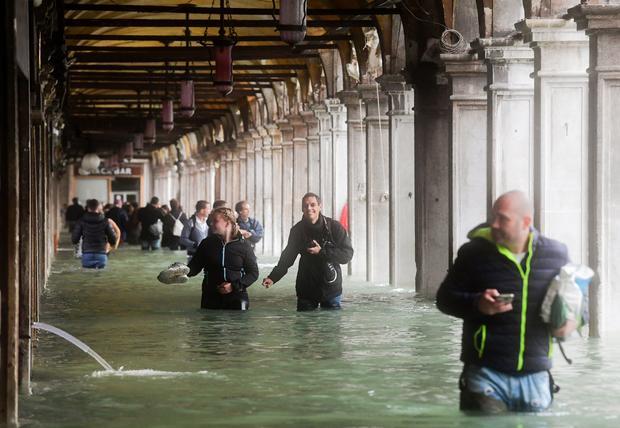 ITALY-VENICE-WEATHER-FLOOD