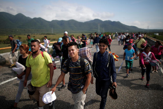 Migrant caravan seeks refuge
