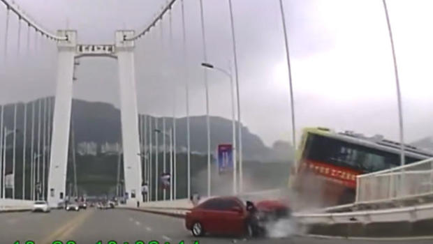 Image result for china bus off bridge