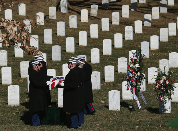 Funeral Held For Marine Corps Cpl. Robert Richards At Arlington National Cemetery