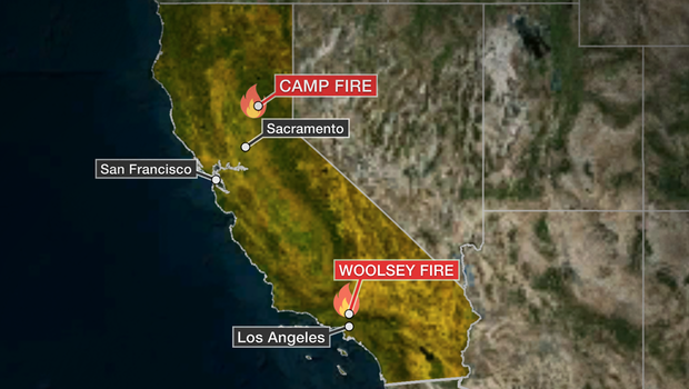 Ventura County Fire Live >> Fires in California: Latest updates on the wildfires, death toll, evacuations, map of Camp ...