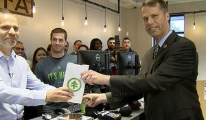 Thousands line up for first recreational pot sales in Massachusetts