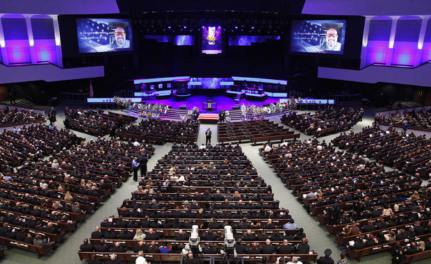 Funeral Held For Dallas Police Department Senior Corporal Ahrens Killed During Shooting Of Police Officers