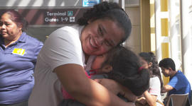 Separated at the border, a mother and child reunite