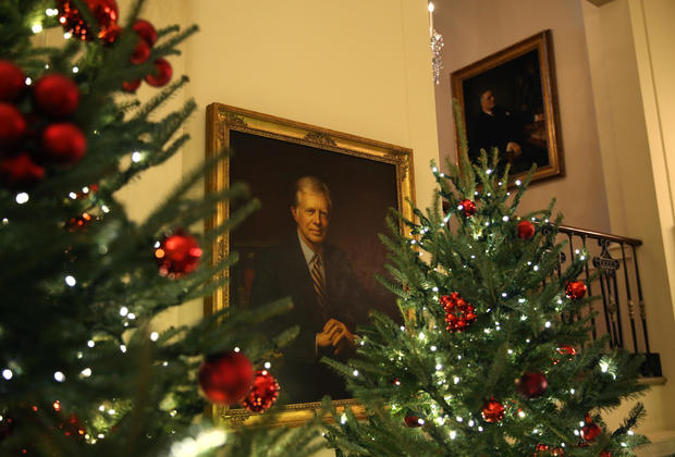 Christmas Press Preview at the White House in Washington