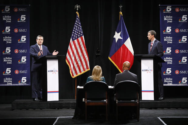 Texas Senate Candidates Ted Cruz And Beto O'Rourke Debate In Dallas