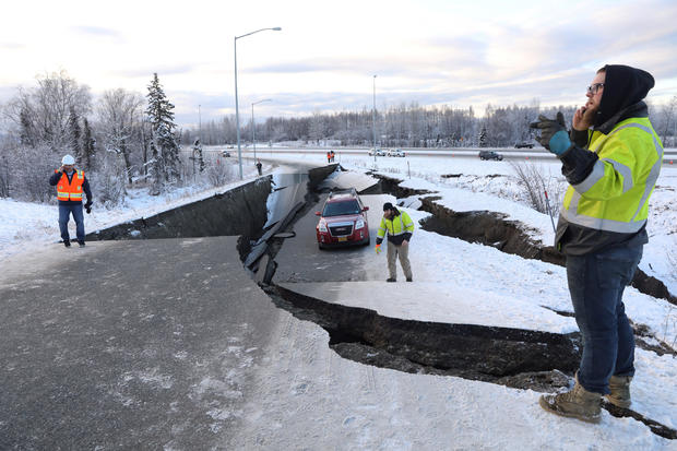 Alaska earthquake and aftershocks