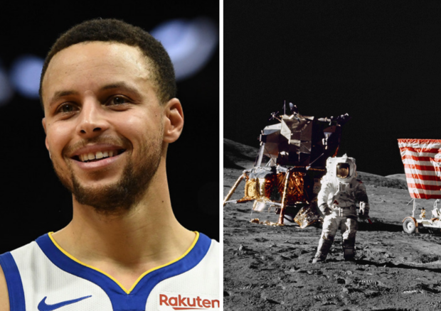 1caff5b65f6 NASA offers to show Stephen Curry proof after he raised doubts about moon  landing - CBS News