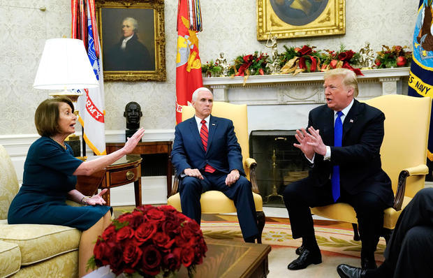 President Trump meets with Schumer and Pelosi at the White House in Washington