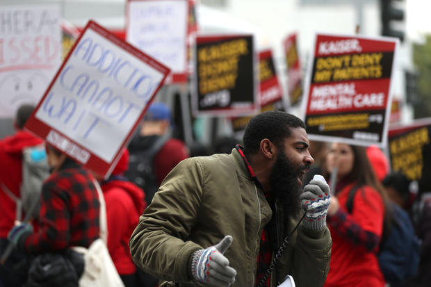 Thousands Of Mental Health Workers go On Strike  In CA To Protest Kaiser Permanente