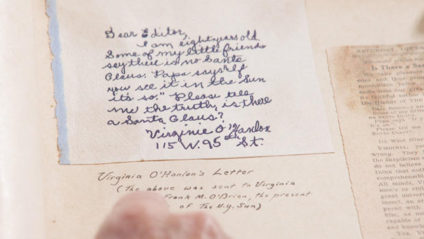 yes virginia the story behind the letter about santa claus cbs news