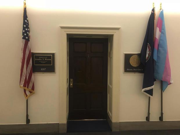 Congresswoman Transgender Flag