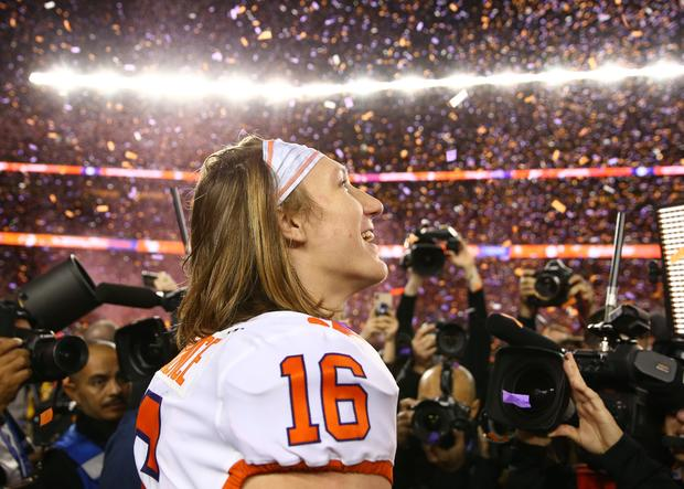 Alabama wins  championship, Clemson football routs college
