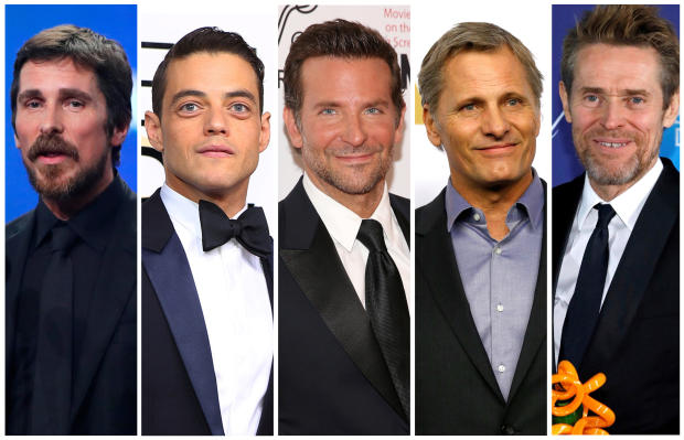 Best actor Oscar nominees for the 91st annual Academy Awards (L-R)   Bale, Malek, Cooper, Mortensen and Dafoe are seen in a combination of file photos