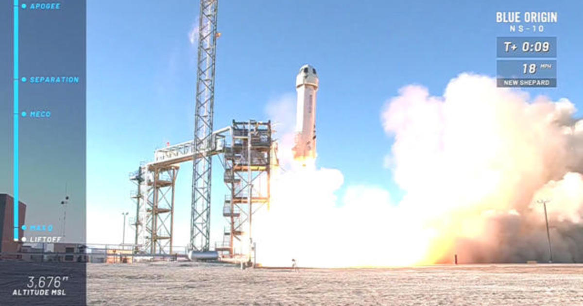 Blue Origin launches New Shepard rocket