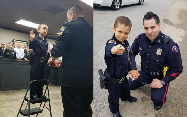 6 year-old battling cancer sworn in as police officer