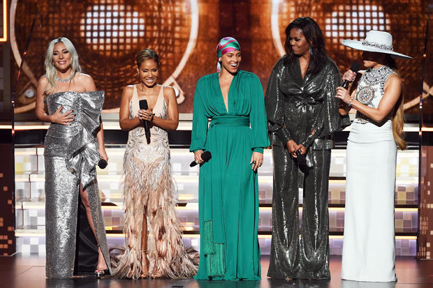 Lady Gaga, Jada Pinkett Smith, Alicia Keys, Micelle Obama, JLo -- 61st Annual Grammy Awards