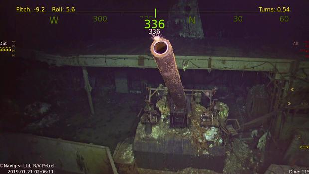 USS Hornet: Eerie underwater photos of WWII wreckage