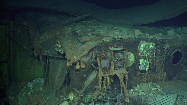 USS Hornet: Eerie underwater photos of WWII wreckage