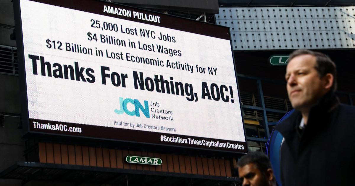 Rep. Alexandria Ocasio-Cortez responds to Twitter trolls – and critical NYC billboard