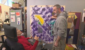 An artist with cerebral palsy, and without limitations