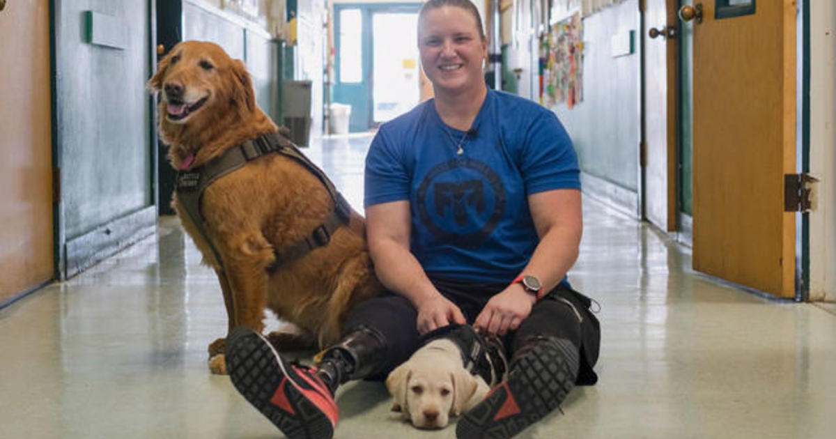 Life-saving service dog inspires a veteran to give back - CBS News