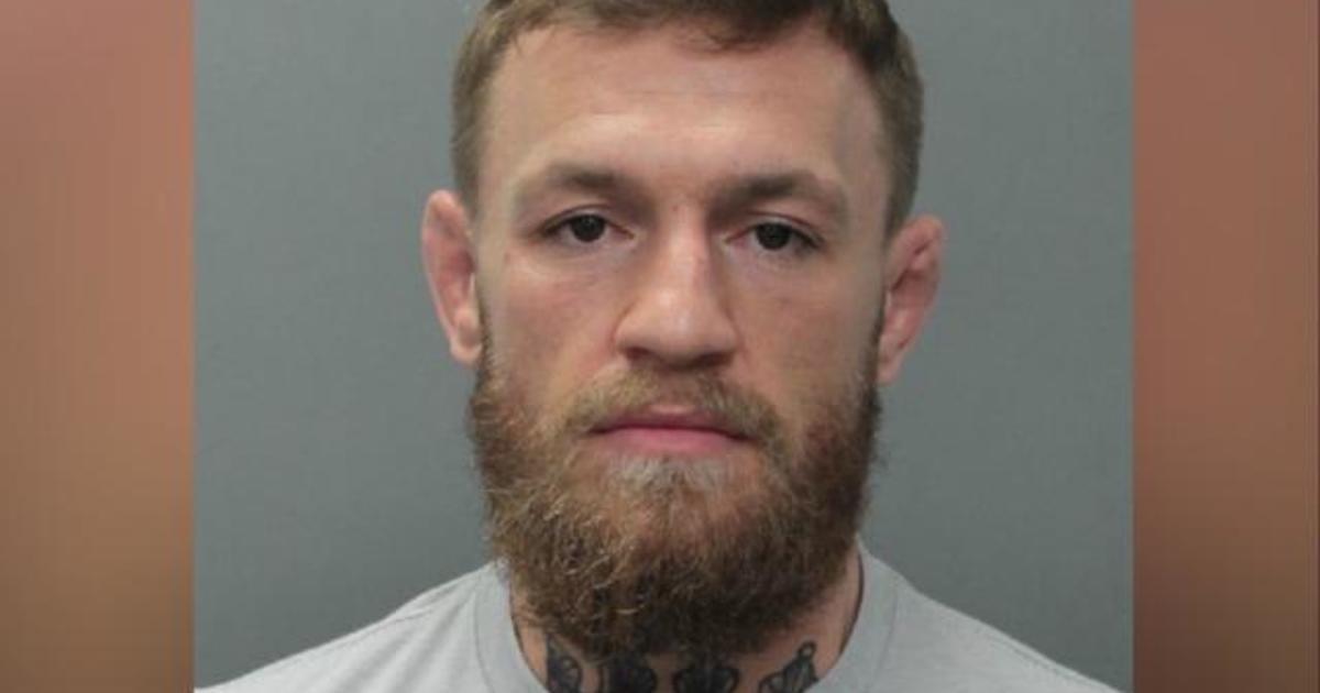 35f7ff26 Conor McGregor: UFC fighter arrested for allegedly smashing and stealing  fan's phone in Miami Beach - CBS News