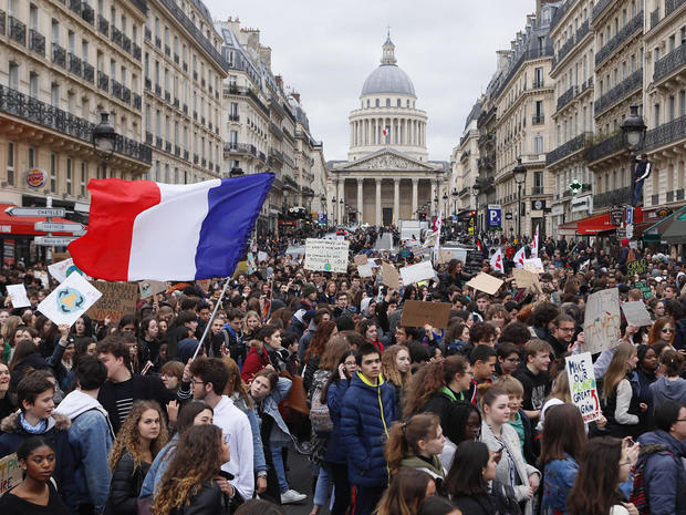 Students around the world march against inaction on climate change