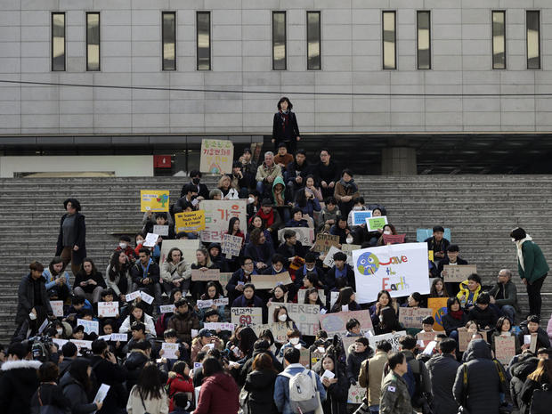 South Korea Climate Student Protests