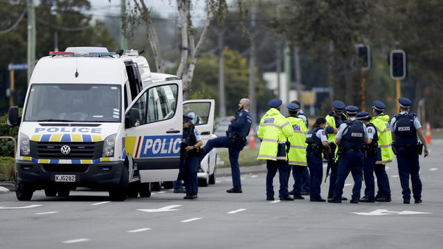 A still image taken from video circulated on social media, apparently taken by a gunman and posted online live as the attack unfolded, shows him entering a mosque in Christchurch