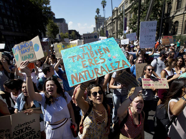 Chile Climate Students Protest