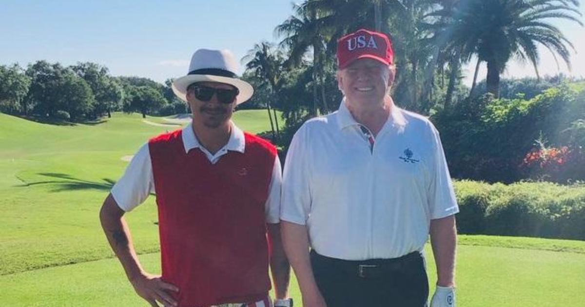 cbsnews.com - Kid Rock posts golfing photo with Trump