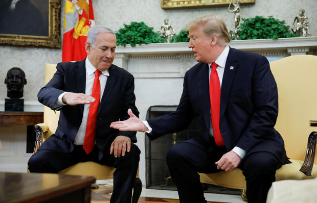 U.S. President Trump meets with Israel's Prime Minister Netanyahu at the White House in Washington
