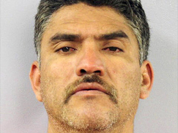 This file booking photo provided by the Montgomery County Jail in Missouri shows Pablo Serrano-Vitorino.