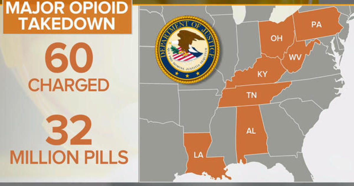 Dozens charged in major opioid bust across U S